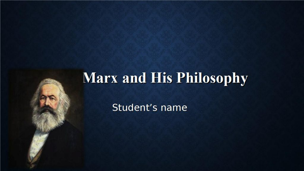 Karl Marx Powerpoint Presentation Sample