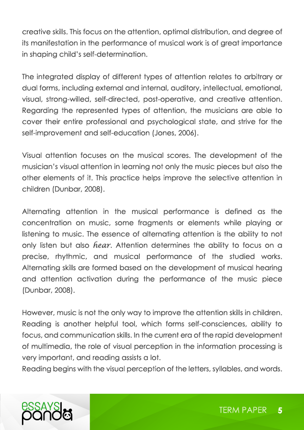 Research paper on music therapy