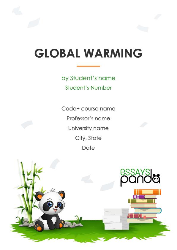 Persuasive global warming essays